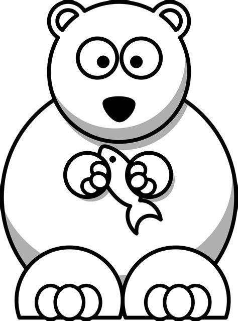 cartoon bear coloring page cartoon bear drawings clipart best