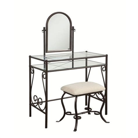 Metal Vanity Sets For Bedrooms by Metal Vanity Set In Linen 58950mtl 01 Kd U