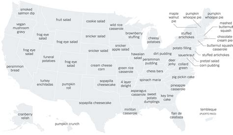 The Recipe Thing by The Thanksgiving Recipes Googled In Every State The New