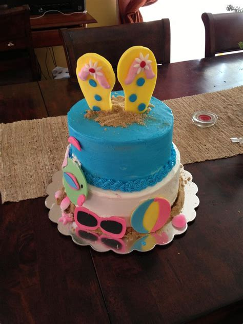 beach themed birthday cakes 21 best beach pool kids birthday images on pinterest