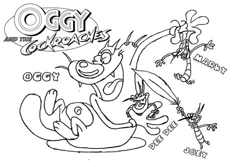 oggy coloring pages online oggy and the cockroaches coloring games kids coloring