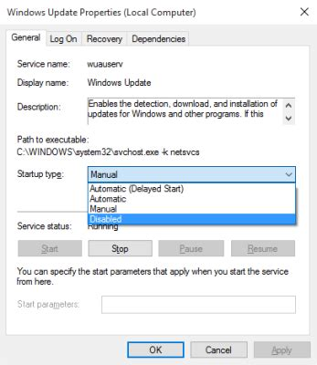 how to disable windows 10 update how to turn off windows update in windows 10
