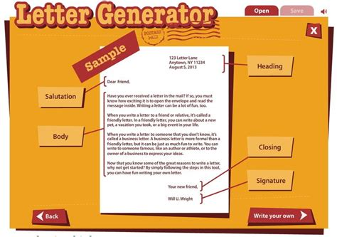 Business Letter Generator 20 best writing workshop friendly letters images on