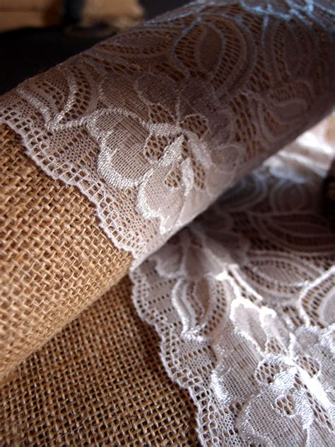 burlap and lace table runner in bulk vintage burlap and lace style no 2 wedding table runner