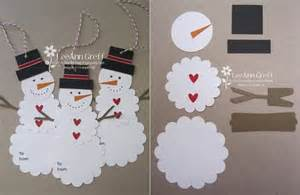 Winter Holiday Crafts For Preschoolers - creative ideas diy cute paper snowman gift tag