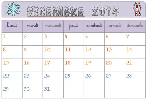Calendrier 2016 Vierge Modifiable Calendrier Vierge 2014