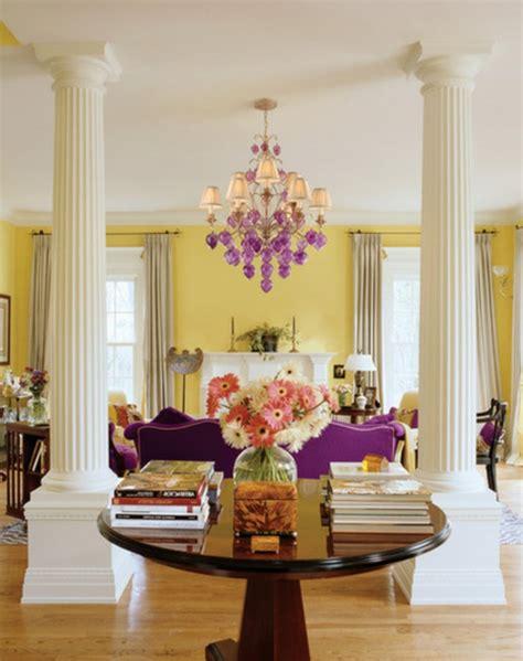 color scheme purple and silver eclectic living home wandfarbe gelb farbgestaltung ideen in der frischen