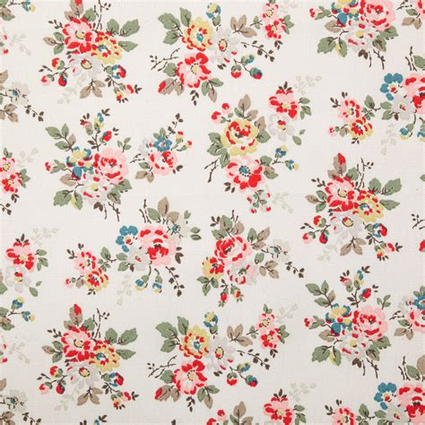 wallpaper bunga cath kidston cotton fabric kingswood rose cotton duck cath kidston