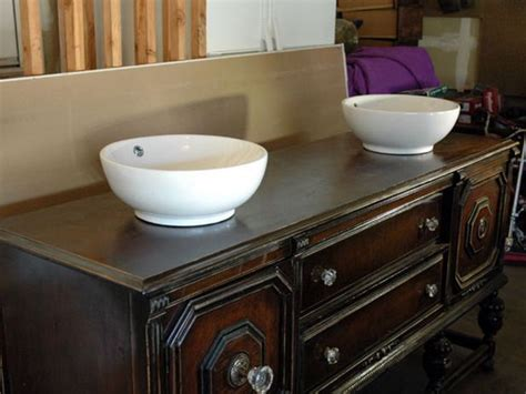 Diy Dresser To Sink Vanity How To Repurpose Old Repurposed Furniture For Bathroom Vanity