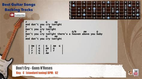 Dont Cry Guitar Chords