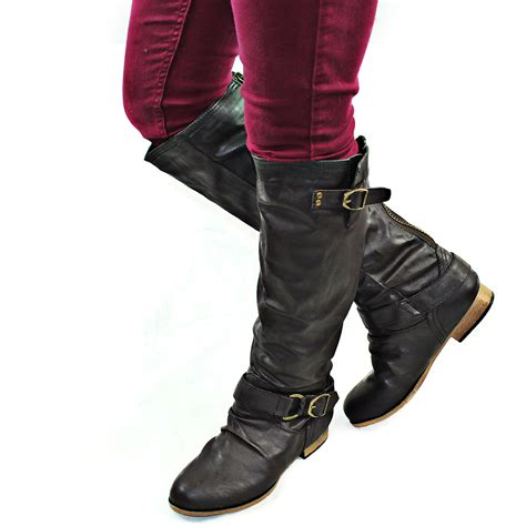 womens motorcycle riding shoes brown women casual motorcycle riding fashion boots back