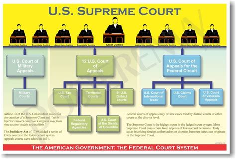 Us Federal Court Search Federal Court System Us Government Civics Poster Ebay