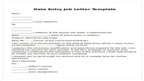 sample job proposal letters sample templates