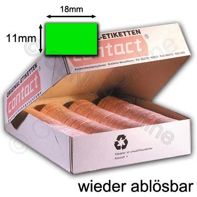 Etiketten Contact by Gr 252 Ne Abl 246 Sbare Preisetiketten 18x11mm F 252 R Contact