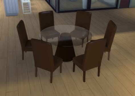 3 dining table mod the sims modern 6 seater and 8 seater dining