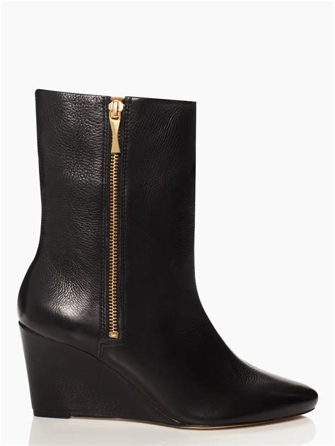 Wedges New kate spade new york volte wedge booties in black lyst