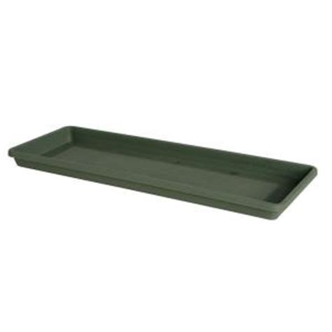 window box tray fiskars 24 in resin window box tray in thyme green 53424