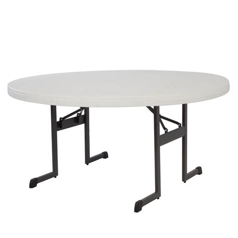 lifetime tables home depot lifetime putty folding table 80125 the home depot