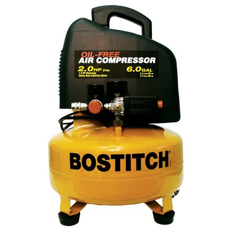 shop stanley bostitch 2 hp 6 gallon 135 psi electric air compressor at lowes