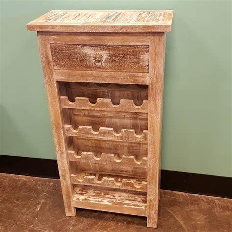 distressed wood wine cabinet reclaimed wood wine rack nadeau memphis