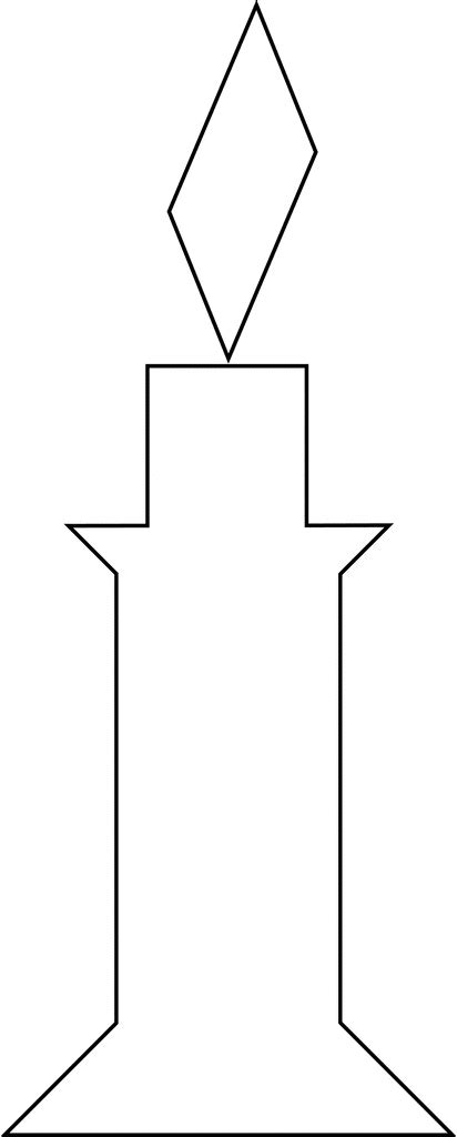 Baptismal Candle Outline by Candle Outline Clip New Calendar Template Site
