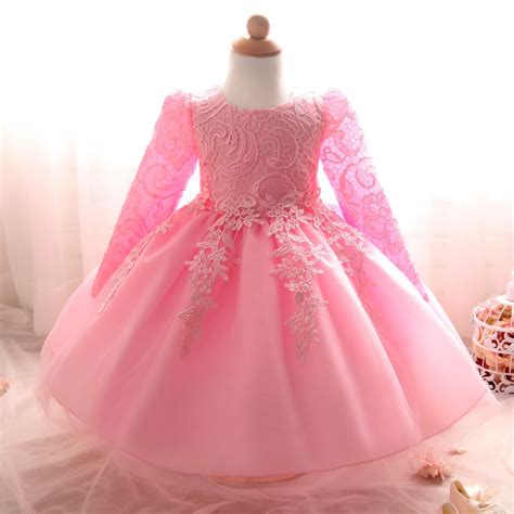 Princes Gown Tutu Dress Baby 8 Thn Code A3 aliexpress buy white christening baby dress wedding for 1 year birthday newborn