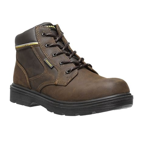 safety work boots for parade footwear forest mens brown leather metal free