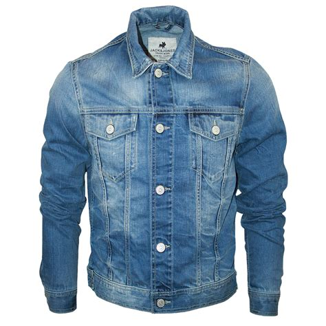 design jean jacket mens blue jack jones jeans jean designer regular fit