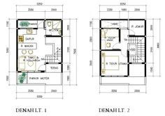 gambar contoh denah rumah minimalis 2 lantai modern 1 lensa rumah modern