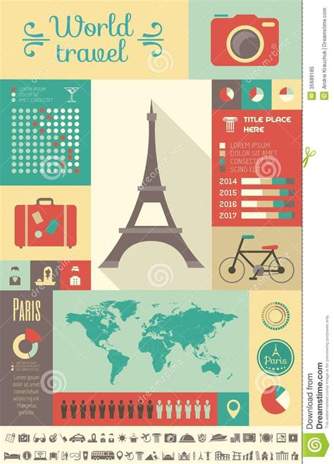 Travel Infographic Template Royalty Free Stock Photo Image 35689185 Travel Infographic Template