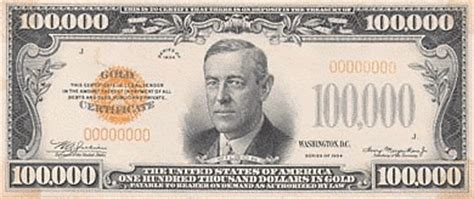 us 100k bill 1934 money us currency us 100k bill 1934