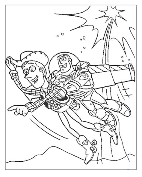 woody and buzz coloring pages az coloring pages