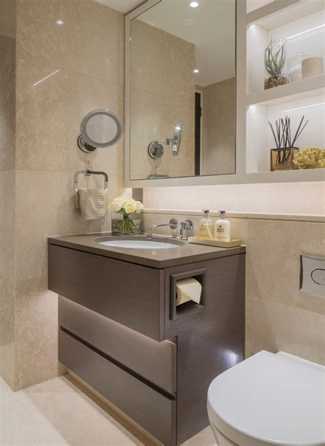 Recessed toilet paper holder in bathroom contemporary with swing arm