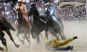 Necapaific Crim Ultimate Dipsy Dangers palio di siena sees riders charge the streets of tuscan city daily mail