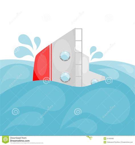 sinking boat cartoon shipwreck cartoon eps10 royalty free stock photo image