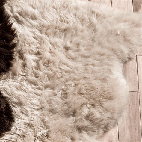 Large Sheepskin Area Rug Southwest Rugs Chagne Large Sheepskin Rug Lone Western Decor