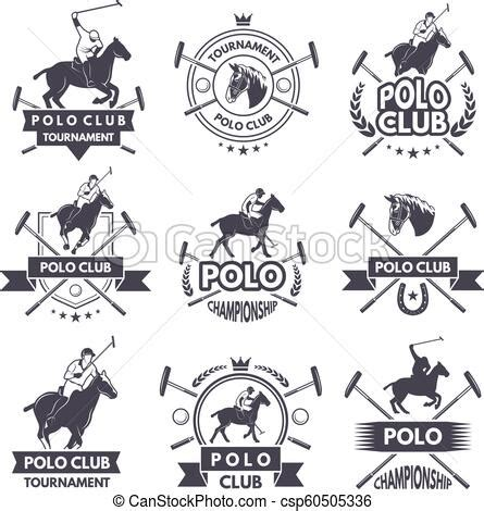 Gamis Monochrome Polos sport labels for polo monochrome silhouette of