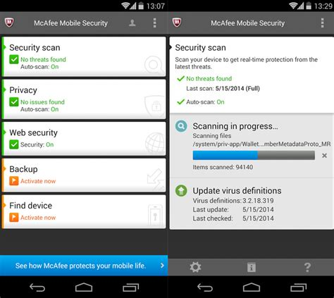mcafee for android mcafee mobile security app the best android tablet and smartphone antivirus protection