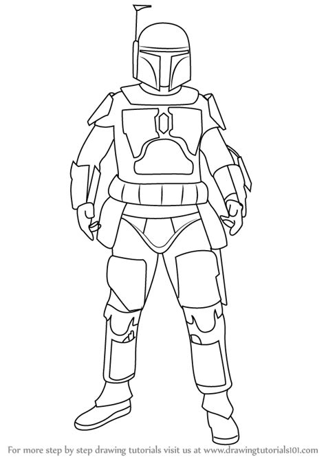 boba fett character sketch search boba fett step by step how to draw boba fett from wars