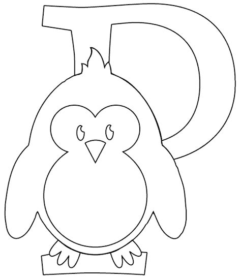 P For Penguin Coloring Page by P Is For Penguin Coloring Page Coloring