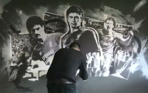 Rush The Field Wall Mural video liverpool art for warrior executive box at anfield