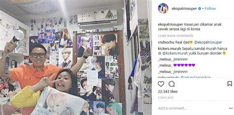 Bantal Bts dukung anak jadi fans bts eko patrio bikin netizen iri tabloidbintang