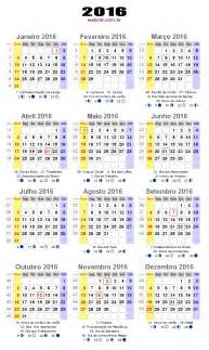 As Calendario Calend 225 2016 Fases Da Lua