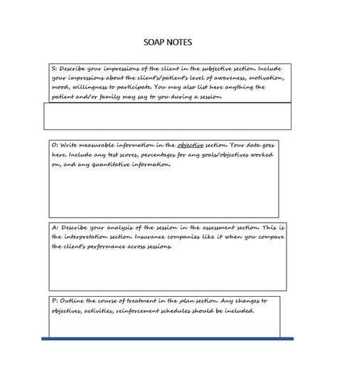 soap documentation template 40 fantastic soap note exles templates template lab