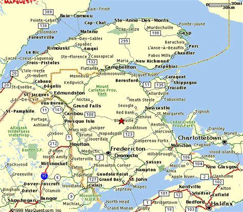 map of maine usa and new brunswick canada new brunswick canada map