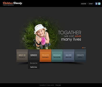 Html5 Animated Website Templates Charity Html5 Template Best Website Templates