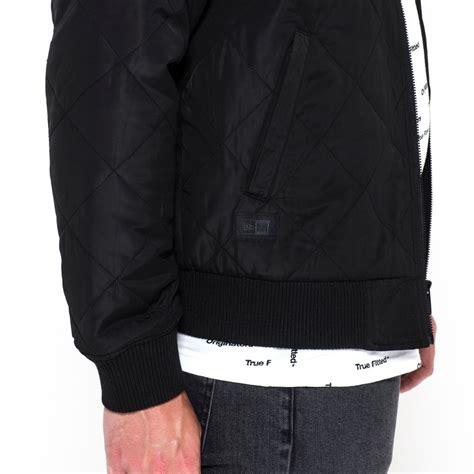 new era jackets new era originators quilted black bomber jacket new era