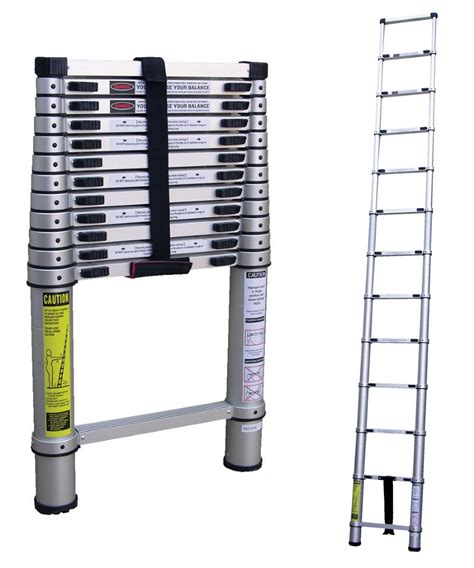Telescoping L Changer by 15 Step Aluminum Telescoping Ladders Commercial