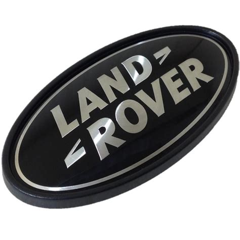 land rover logo black land rover black silver rear oval badge genuine lr