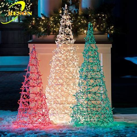 energy best green led light metal christmas tree china light outdoor green metal lighted trees buy outdoor green metal